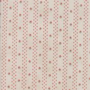 Moda Quill by 3 Sisters - 5610 - Budding, Striped Floral on Pale Beige - 44155 11 - Cotton Fabric